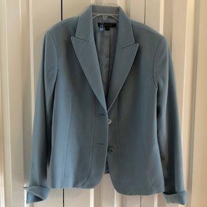 Lafayette 148 size 12  blue wool cashmere jacket